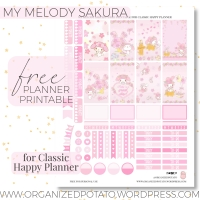Free Planner Printable: My Melody Sakura